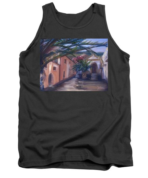 Tank Top featuring the painting Sicilian Nunnery II by Donna Tuten