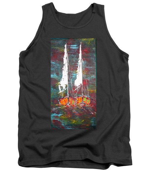 Side By Side - Sold Tank Top by George Riney