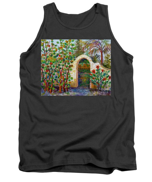 Tank Top featuring the painting Siesta Key Archway by Lou Ann Bagnall