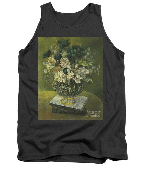 Silk Floral Arrangement Tank Top