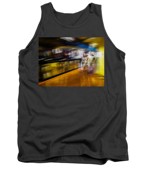 Tank Top featuring the photograph Silver People In A Golden World by Alex Lapidus
