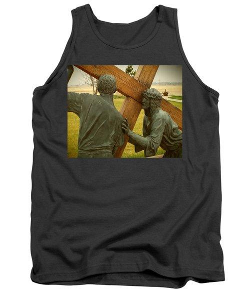 Simon Helps Jesus Carry His Cross Tank Top