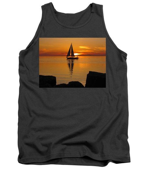 Sister Bay Sunset Sail 2 Tank Top