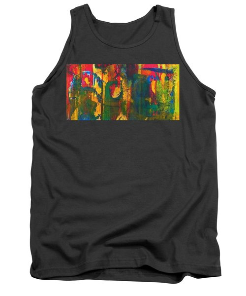 Tank Top featuring the painting Sisters by Anna Ruzsan