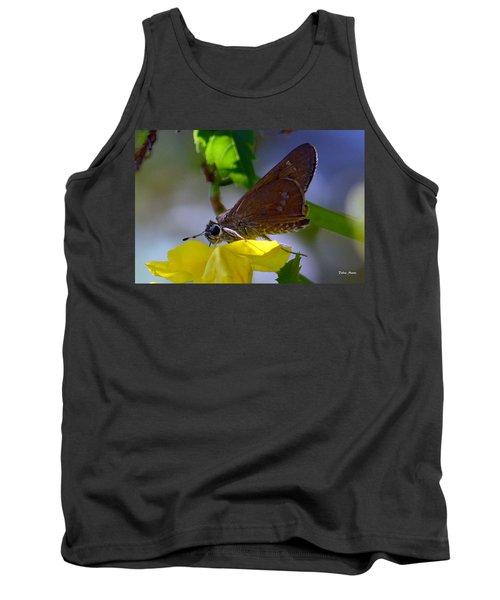 Tank Top featuring the photograph Skipper Butterfly by Debra Martz