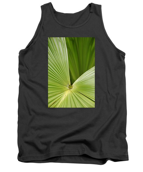 Tank Top featuring the photograph Skc 0691 The Paths Of Palm Meeting At A Point by Sunil Kapadia
