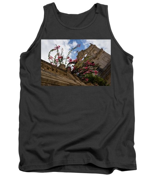 Tank Top featuring the photograph Sky Blossoms by Georgia Mizuleva