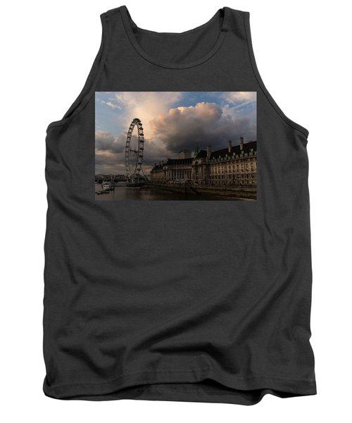 Sky Drama Around The London Eye Tank Top