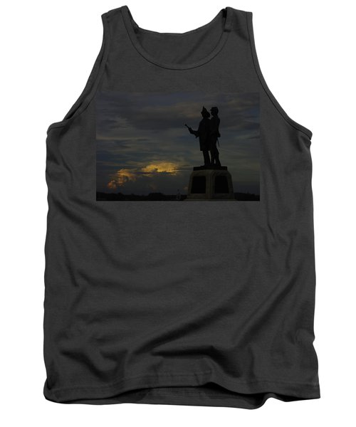 Sky Fire - 73rd Ny Infantry 4th Excelsior 2nd Fire Zouaves - Summer Evening Thunderstorms Gettysburg Tank Top
