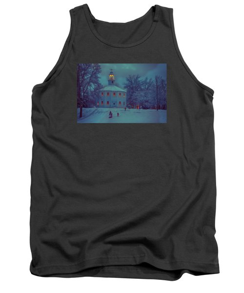 Sledding At The Old Round Church Tank Top