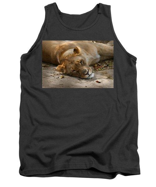 Sleepy Lioness Tank Top