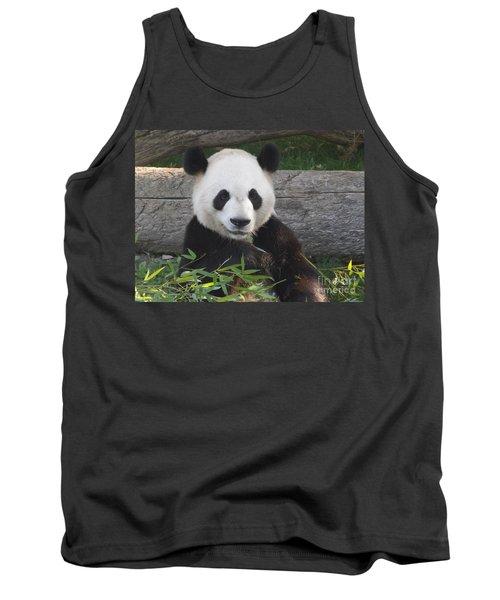 Smiling Giant Panda Tank Top by Lingfai Leung