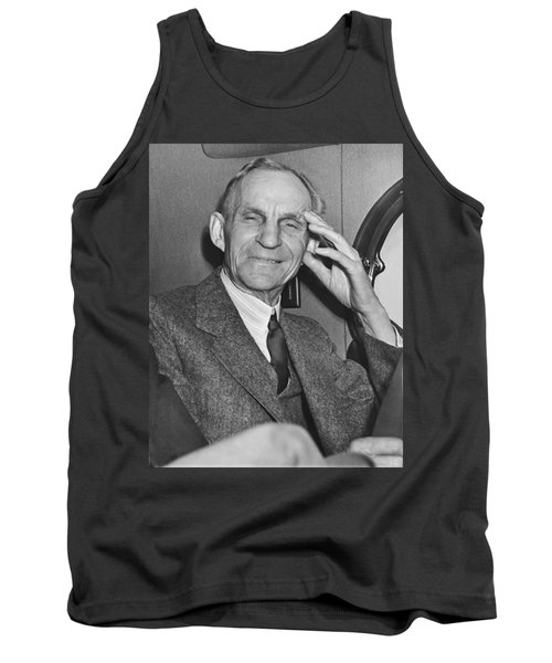 Smiling Henry Ford Tank Top by Underwood Archives