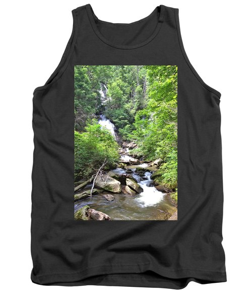 Smith Creek Downstream Of Anna Ruby Falls - 3 Tank Top by Gordon Elwell
