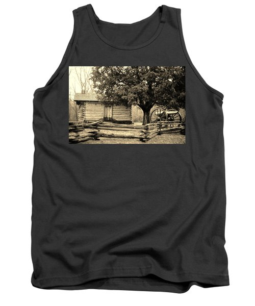 Snodgrass Cabin And Cannon Tank Top by Daniel Thompson