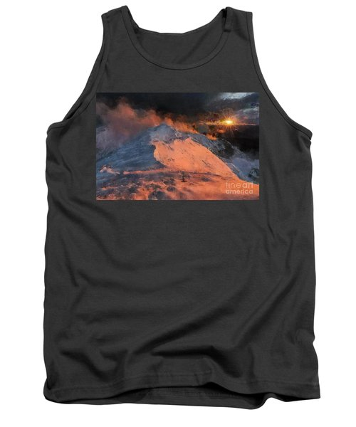 Snow Cap Sunset Tank Top