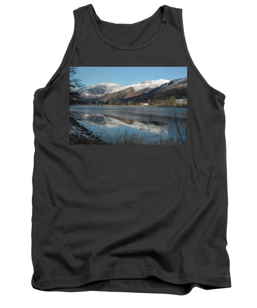 Snow Lake Reflections Tank Top by Kathy Spall