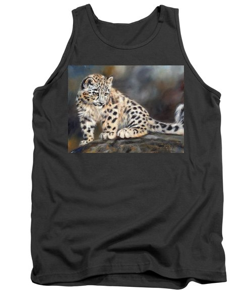 Snow Leopard Cub Tank Top