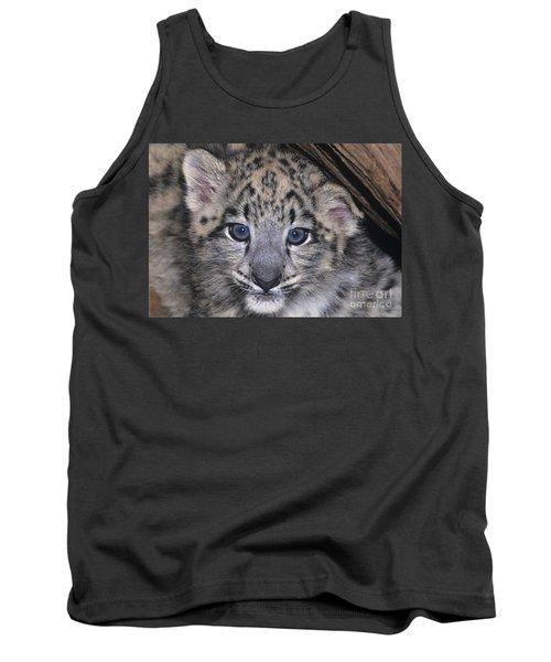 Snow Leopard Cub Endangered Tank Top