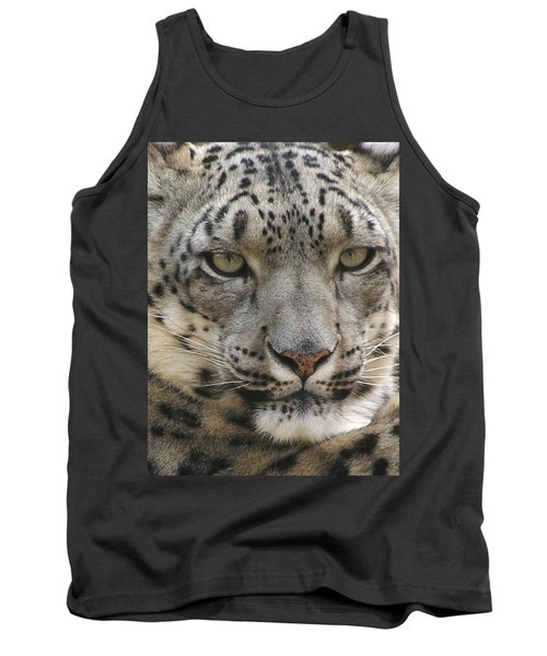 Tank Top featuring the photograph Snow Leopard by Diane Alexander