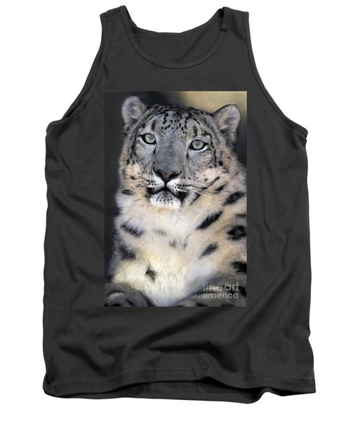 Tank Top featuring the photograph Snow Leopard Portrait Endangered Species Wildlife Rescue by Dave Welling