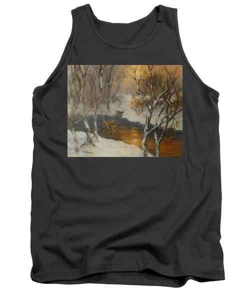 Snow Sunset Paintings Tank Top