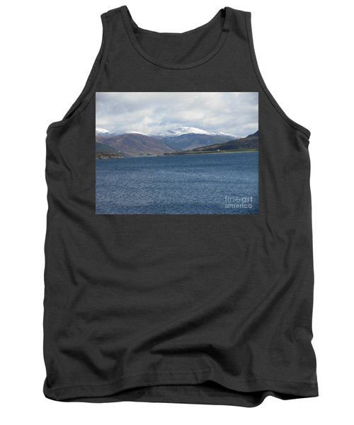 Snowcapped Mountains At Ullapool Tank Top