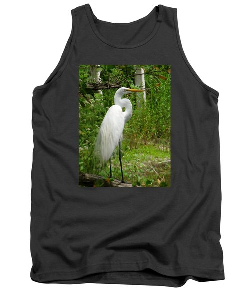 Tank Top featuring the photograph Snowy Egret by Melinda Saminski