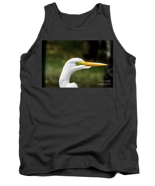 Snowy Egret Profile Tank Top