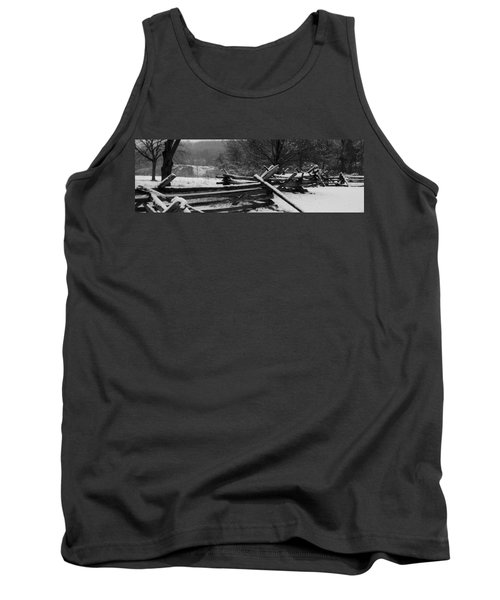 Tank Top featuring the photograph Snowy Fence by Michael Porchik