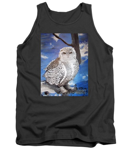 Snowy Owl . Tank Top