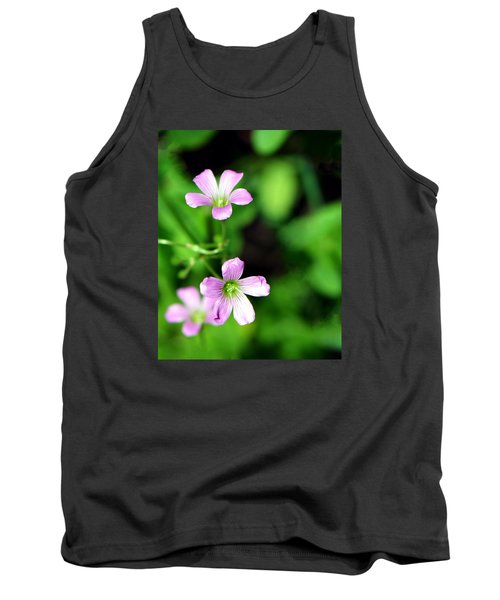 So Delicate In Purple. Texas Spring Perennial Tank Top