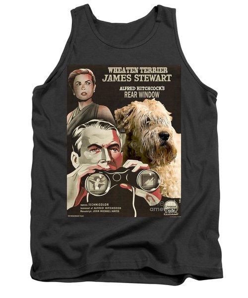 Soft-coated Wheaten Terrier  - Wheaten Terrier Art Canvas Print - Rear Window Movie Poster Tank Top