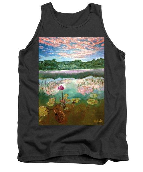 Solitary Bloom Tank Top by Belinda Low