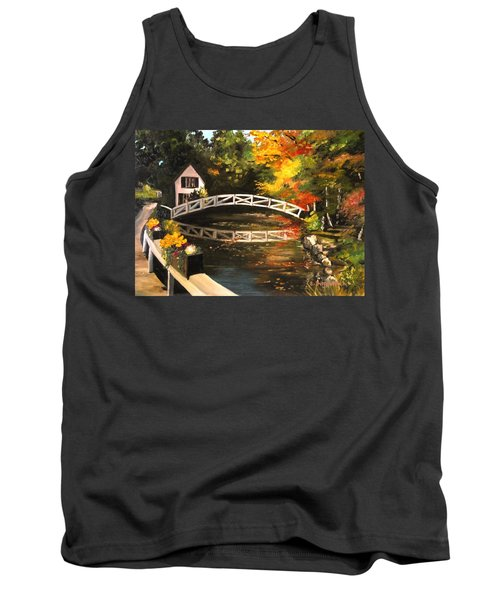 Somesville Maine Footbridge Tank Top