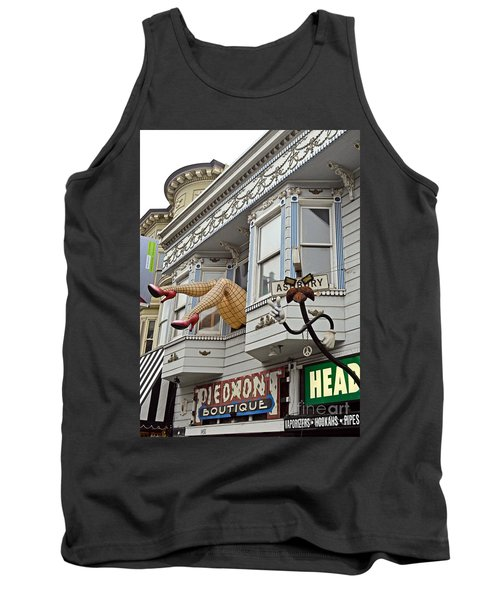 Something To Find Only The In The Haight Ashbury Tank Top by Jim Fitzpatrick