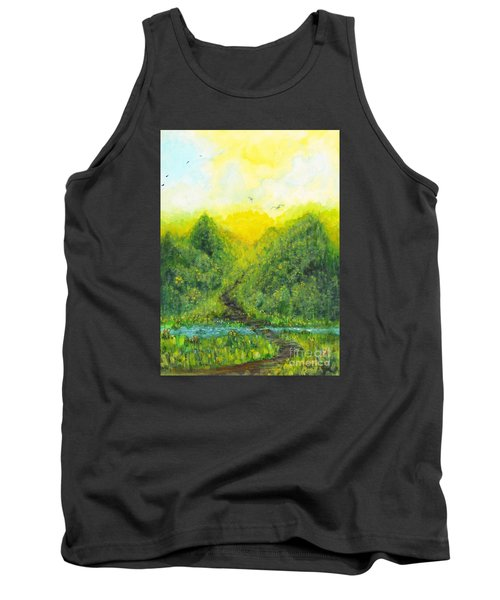 Tank Top featuring the painting Sonsoshone by Holly Carmichael