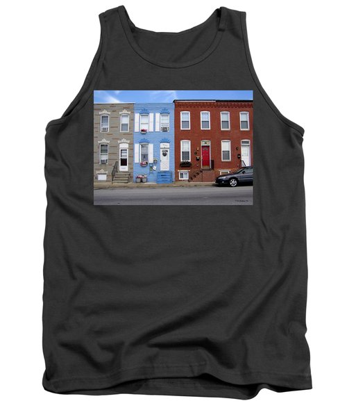 Tank Top featuring the photograph South Baltimore Row Homes by Brian Wallace