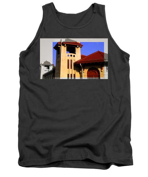 Spanish Architecture Tile Roof Tower Tank Top