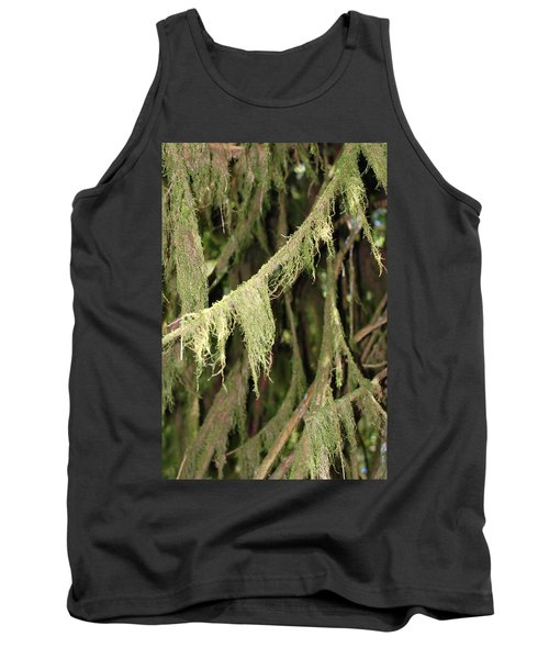 Spanish Moss In Olympic National Park Tank Top by Connie Fox