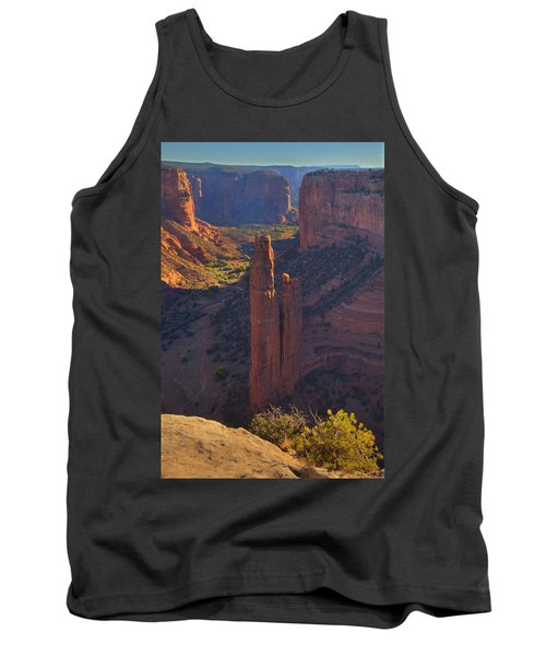 Tank Top featuring the photograph Spider Rock by Alan Vance Ley