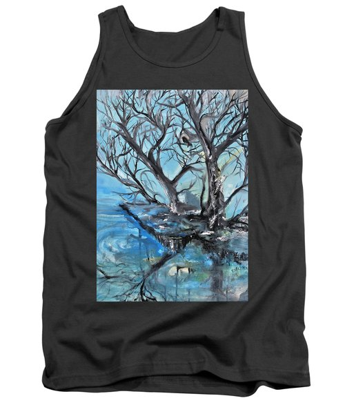 Tank Top featuring the painting Spooky Mood by Evelina Popilian