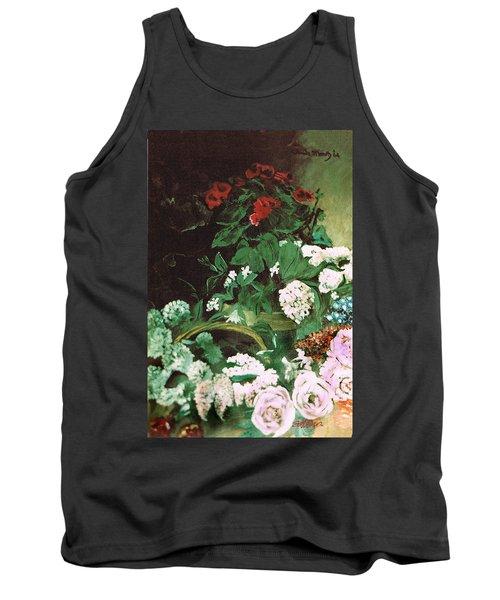 Spring Flowers Study Of Monet Tank Top