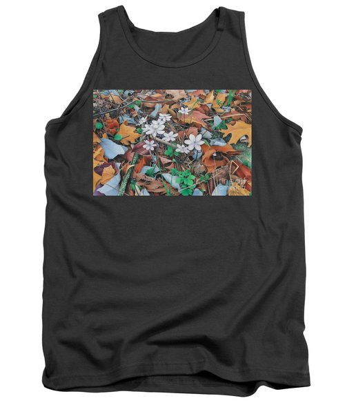 Tank Top featuring the painting Spring Forward by Pamela Clements