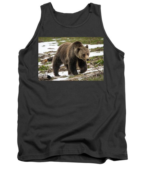 Tank Top featuring the photograph Spring Grizzly Bear by Jack Bell