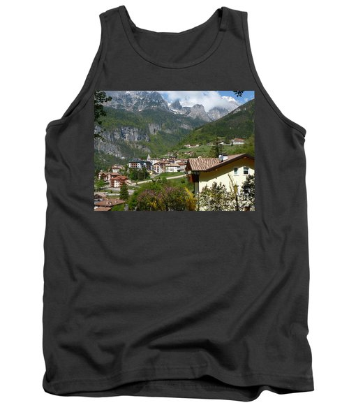 Tank Top featuring the photograph Springtime In Molveno - Italy by Phil Banks