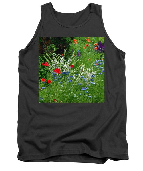 Squarely Spring Floral Garden Tank Top