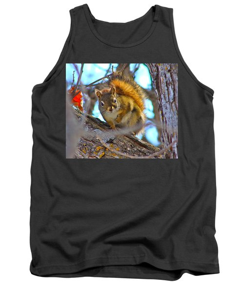 Squirrel Duty. Tank Top by Johanna Bruwer