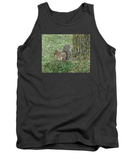 Squirrel Tank Top by Lucinda V VanVleck
