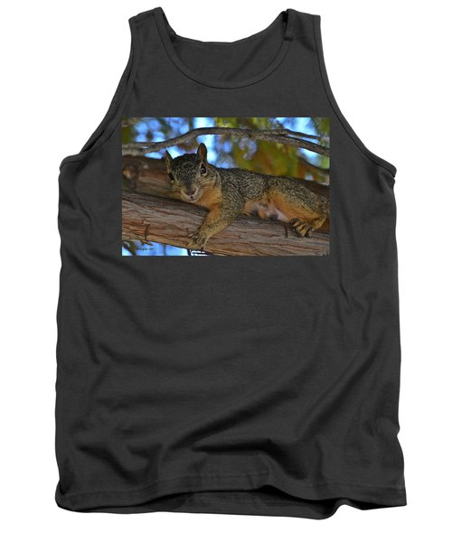 Squirrel On Watch Tank Top